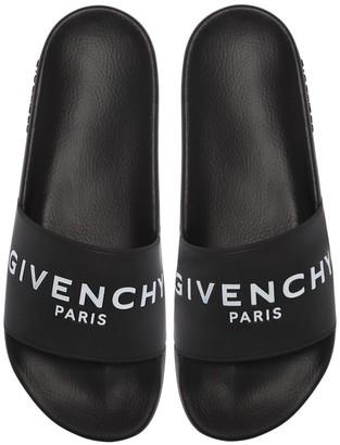 Givenchy Logo Rubber Slide Sandals