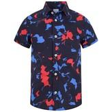 Lanvin LanvinBoys Navy Patterned Shirt