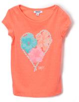 DKNY Pop Coral Heart Braid Tee - Toddler & Girls