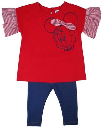 Disney Baby Girl's Minnie 2pc Top Legging Set