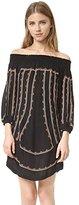 Twelfth Street By Cynthia Vincent Women's Off Shoulder Petal Dress
