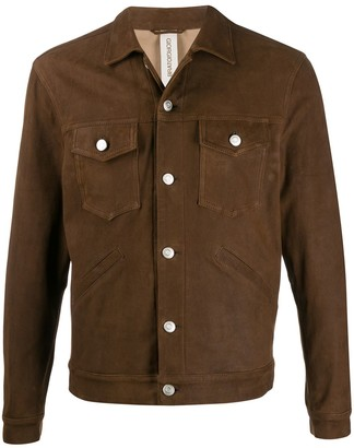 Giorgio Brato Burnished Button-Up Jacket