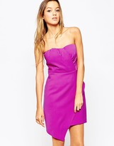 Adelyn Rae Strapless Dress With Asymmetric Layer