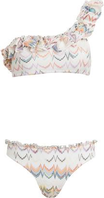 Missoni Mare Ruffled One-Shoulder Bikini Set