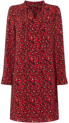 Biba Leopard Print Pussybow dress