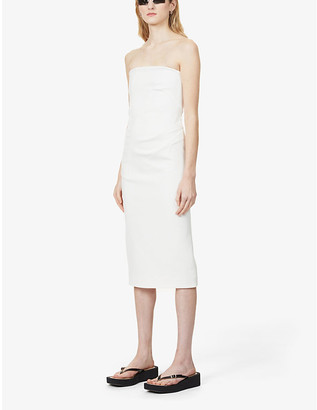 Sportmax Dritto strapless stretch-cotton midi dress