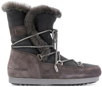 Moon Boot Shearling Snow Boots