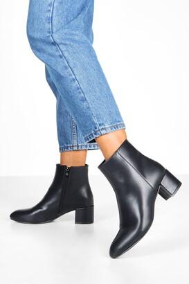 boohoo Basic Block Heel Shoe Boots