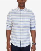Nautica Men's Classic-Fit Stripe Linen-Blend Shirt