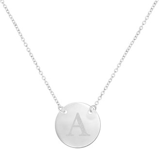 Savvy Cie Stainless Steel Initial Pendant Necklace - Multiple Initials Available