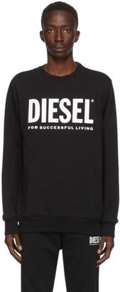 Diesel Black S-Gir-Division Logo Sweatshirt