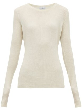 Raey Crew-neck Fine-rib Cashmere Sweater - Womens - Ivory