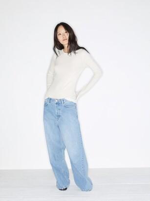 Raey Crew Neck Fine Rib Cashmere Sweater - Womens - Ivory
