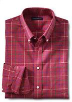 Classic Men's Tailored Fit No Iron Twill Heather Sportshirt-Sail Blue Multi Stripe