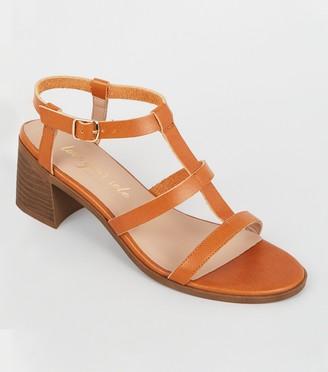 New Look Leather-Look Block Heel Gladiator Sandals
