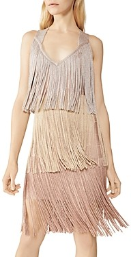 Herve Leger Tiered Fringe Dress