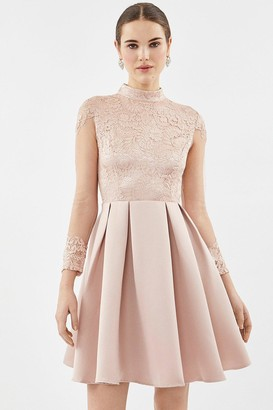 Coast Lace Bodice Fit And Flare Dress