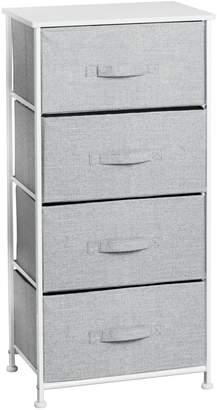 InterDesign Gray Aldo 4 Drawer Storage Unit