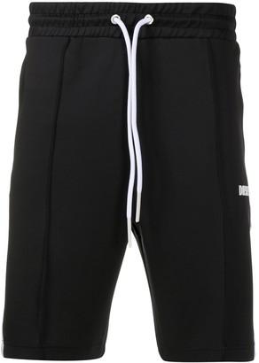 Diesel P-Kurl side-stripe track shorts