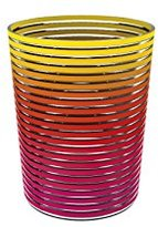 "Zak Designs zakdesigns ""Swirl"" Party Bucket, Warm Rainbow Colors"