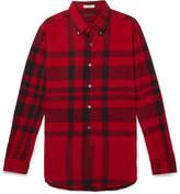 Engineered Garments - Button-Down Collar Checked Cotton-Flannel Shirt
