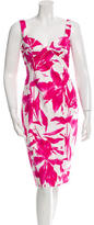 David Meister Printed Midi Dress