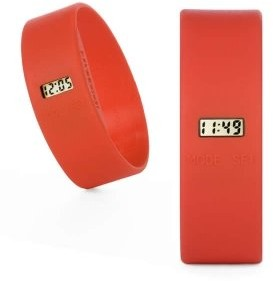 Too Late Too Latetl0180Unisex WatchDigital QuartzRed DialSilicone Wristband Red