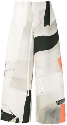 OSKLEN Abstract Print Cropped Trousers