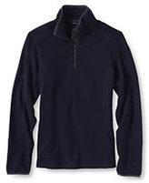 Classic Women's Plus Size Textured Fleece Half-zip Pop-over-True Navy