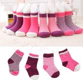 Kocome Nice 4 Pairs Lovely Baby Newborn Infant Toddler Kids Soft Cotton Socks 0 3 Years