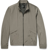 Theory Drafted Shell Blouson Jacket - Mushroom