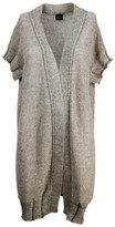Thumbnail for your product : Lorena Antoniazzi Short-sleeved Maxi Cardigan Sweater In Linen And Cotton With Micro Sequins
