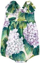 Dolce & Gabbana Hydrangea print poplin onesies