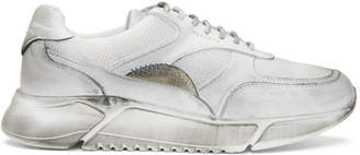 Axel Arigato White Distressed Genesis Sneakers
