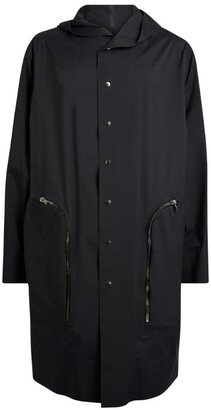 Rick Owens + Moncler Hooded Overcoat