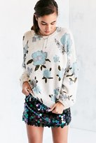 Kimchi & Blue Kimchi Blue Floral Balloon-Sleeve Pullover Sweater