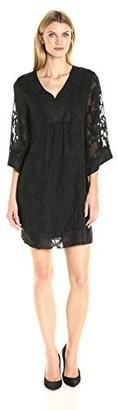 Robbie Bee Women's Missy Burnout Long Sleeve Dress