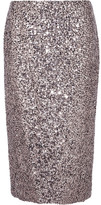Tom Ford Sequined Silk Skirt - Silver