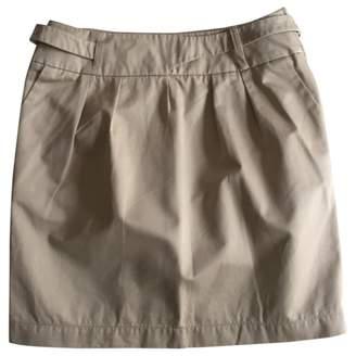 Lacoste Camel Cotton Skirt for Women
