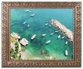 Ariane Trademark Fine Art Moshayedi 'Italian Docks' Ornate Framed Art
