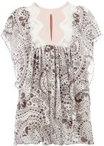 Chloé lace insert daisy chain blouse - women - Silk/Cotton/Polyester/Viscose - 40
