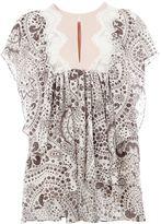 Chloé lace insert daisy chain blouse - women - Silk/Polyester/Acetate/Cotton - 40