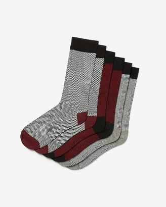 Express 3 Pack Printed Dress Socks