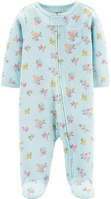 Carter's Baby Girl Floral Thermal Sleep & Play