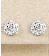 Dillard's sterling collection pave fireball earrings