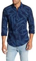 Scotch & Soda Blue Print Slim Fit Shirt