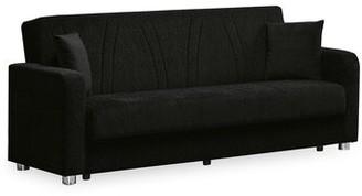 Orren Ellis Crigger Uphostery Sofa Bed Upholstery Color: Black