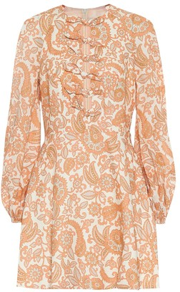 Zimmermann Peggy printed linen minidress