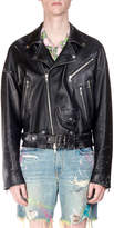 Amiri Men's Leather Oversized Biker Jacket