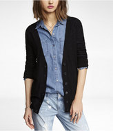 Long Sleeve Slub Knit Boyfriend Cardigan